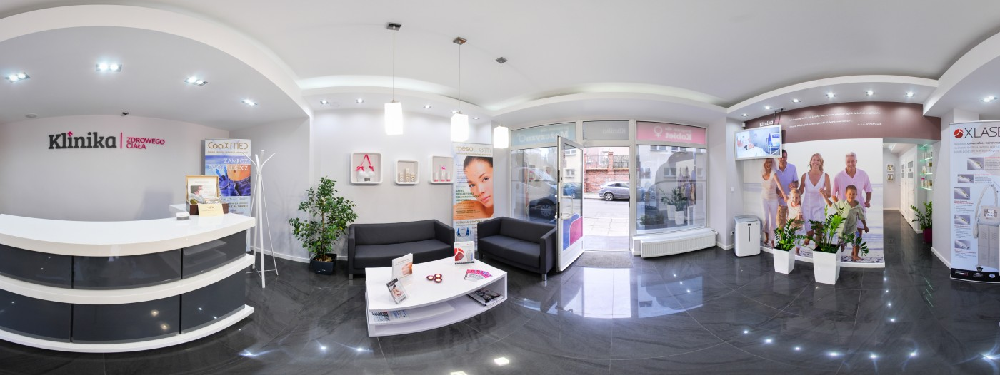 Wnętrze salonu kliniki ciala w Opolu